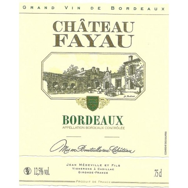 Chat Fayau Bordeaux Blanc